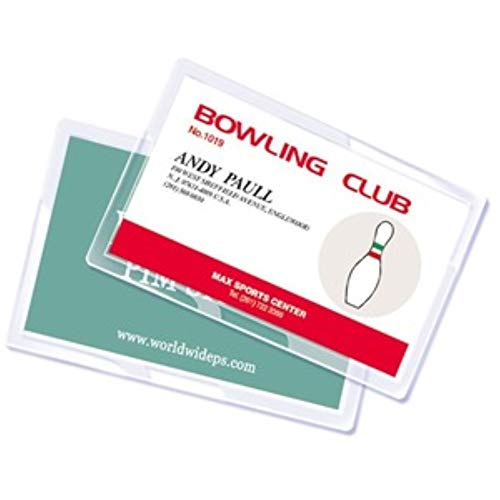 Royal Sovereign Heat Sealed Laminating Pouches 5 Mil Credit Card Size 3.38 x 2.12 x 0.8 Inches Clear Gloss (100 Pack) (RF05CRDT0100)