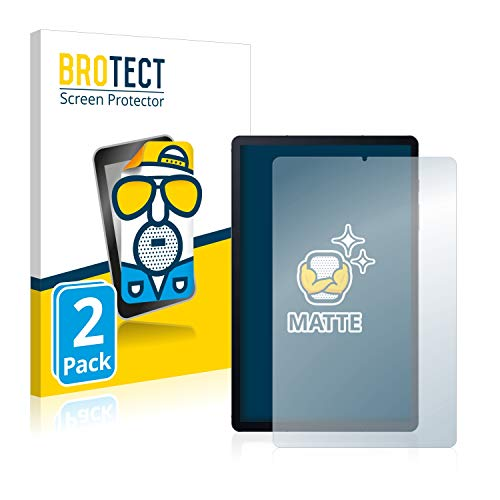 BROTECT Protector Pantalla Anti-Reflejos Compatible con Samsung Galaxy Tab S6 Lite LTE (2 Unidades) Pelicula Mate Anti-Huellas