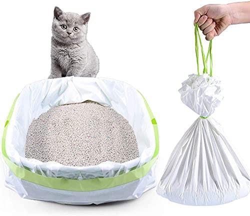Bolsas para caja de arena, 35 unidades Jumbo Cat Litter Pan Liners, Bolsas con cordón para caja de arena, fácil de limpiar. Grueso grande para gatos y gatos XL respetuoso con el medio ambiente