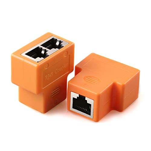 1 juego de cable de red Ethernet con cabezal de red Ethernet hembra acoplador RJ45 conector de red adaptador de cable Ethernet