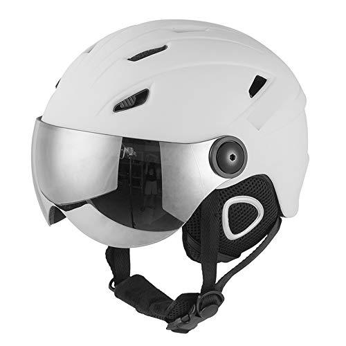 Skihelm met bril, integraal gevormde Snowboard Helm met Venting, Skihelm Vrouwen Mannen Ski Helm Mannen Professionele Skaten Skateboard Helm Sneeuw Sport Helmen
