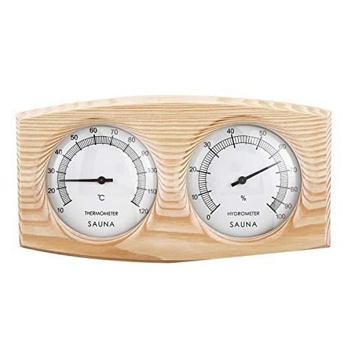 JVSISM Saunaraum Holz Thermometer Hygrometer Dampf Sauna Raum Thermometer Instrumenten Feuchteme Sger?T Sauna Temperatur Best?Ndiges Zubeh?R