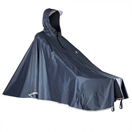 Anyoo Wasserdicht Radfahren Regen Poncho Portable Leichte Regenjacke Mit Kapuze Fahrrad Fahrrad Compact Regen Cape Wiederverwendbare Unisex für Backpacking Camping Outdoors,Einheitsgröße,Grau