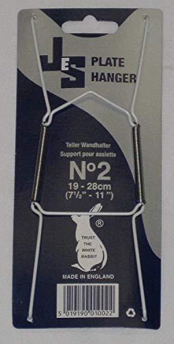 k&S Teller-Wandhalter, Größe2, für Teller mit Durchmesser 19–28cm, 10Stück