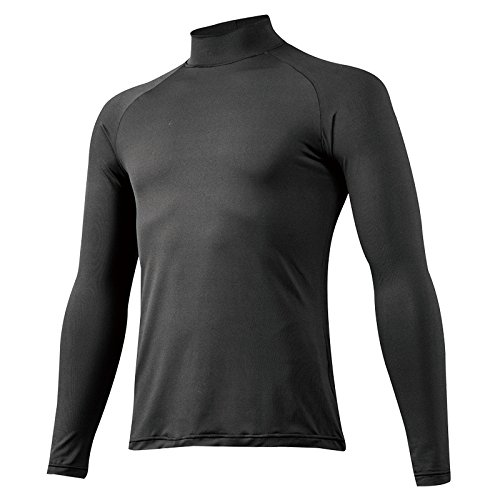 ミズノ 野球 アンダーシャツ 吸汗速乾 メンズ ゼロプラス ハイネック 長袖 ブラック(09) L