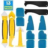 13 Pack Silikonentferner & Silikon Fugenwerkzeug, Multifunktionale Profi Silikon Werkzeug Schaber Set für Küche Badezimmer Bode