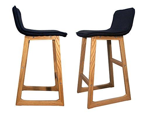 """Sgabelli da bar in legno """"CAB"""", set di 2 pezzi, con design raffinato e poggiapiedi"""