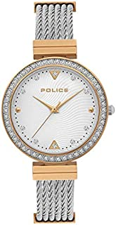 Police Yakima Analogue Silver Dial Silver And Rose Gold Stainless Steel Watch For Women - PL 15575BSTR-04M