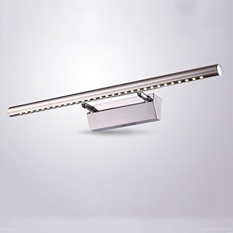 Spiegel-Licht, LED Sleek minimalistisches Edelstahl-Spiegel-Licht-Badezimmer Hand-waschende Toiletten-Eitelkeits-Spiegel-Kabinett-Wand (Farbe   Weies Licht-5W 40cm)