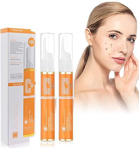 Gel de eliminación de manchas instantáneo de 15 ml, crema removedora de pecas, pigmentación de la piel, suero de vitamina C para rostro común, eliminador de melasma para rostro (2pcs)