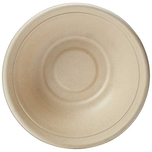 AmazonBasics Compostable 32 oz. Bowl, Kraft, Pack of 100