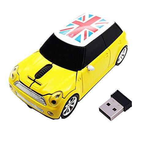 Jinfili Cool Style Car Wireless Mouse Ergonomic USB Gaming Mice for Desktop Laptop PC Notebook