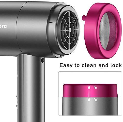 Newdora Asciugacapelli Professionale 1800W, Phone per Capelli con 1 Diffusore & 1 Concentratori, Phon Ioni Professionali per l'uso domestico o in viaggio