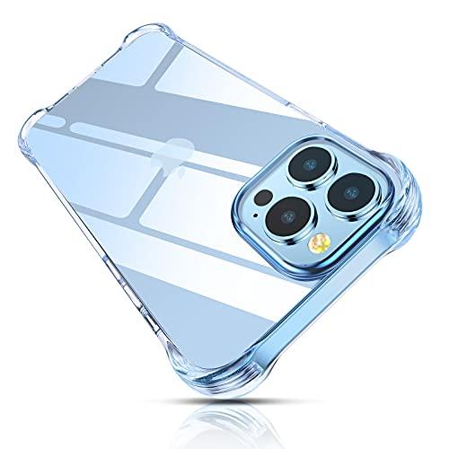 Cocoda Funda Compatible con iPhone 13 Pro (2021), Fundas Antigolpes y Anti- Arañazos, Anti-Amarilleo Carcasa Protectora con Parachoques de TPU Suave Flexible, 6.1 Pulgadas y Transparente