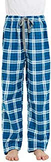 Image of A Best Seller: Cyan Blue Plaid Cotton Flannel Pajama Pants for Boys - More Colors Available