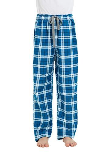 HiddenValor Big Boys Cotton Pajama Lounge Pants (Cyan Blue, XL)