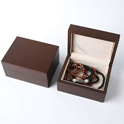 LTCTL Caja De Joyería De Madera Maciza Caja De Regalo De Joyería Portátil Conjunto Collar Pulsera Pendiente Pendiente Caja De Exhibición (Color : Jewelry Box D)