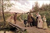 Jennie Brownscombe - Sunday Morning In Sleepy Hollow Art Print 32 x 24