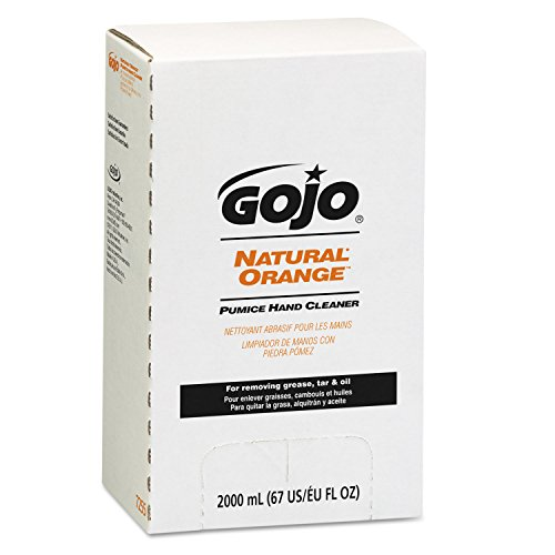 GOJO 7255-04 Natural Orange Pumice Hand Cleaner 2000 mL, (Case of 4)