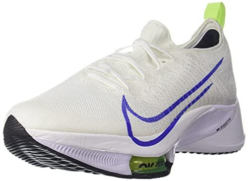 Nike Air Zoom Tempo Next% FK, Scarpe da Corsa Uomo, White/Racer Blue-Volt-Black, 43 EU