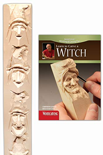 Witch Study Stick Kit (Learn to Carve Faces with Harold Enlow): Learn to Carve a Witch Booklet & Witch Study Stick (Fox Chapel Publishing) High-Quality Resin Study Stick and Step-by-Step Instructions