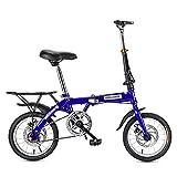ZDXC Mini Vélo Pliant Vélo de Route Adulte Homme Femme Étudiant Vélo Vélo de Ville Vélo Léger (Taille: 14 Pouces / 16 Pouces / 20 Pouces)