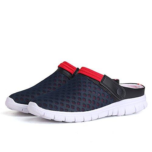 Yvelands Hombre Mujer Verano Sandalia Malla Transpirable Acolchado Playa Chanclas Zapatos(Azul Oscuro,41)