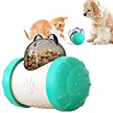 ZONSUSE Cane Giocattolo Palla, Palla per Alimenti per Animali Domestici, IQ Treat Ball Interattiva per Erogare Cibo Giocattolo per Cani Divertente e Interattivo per Spuntini per Cani (Blu)