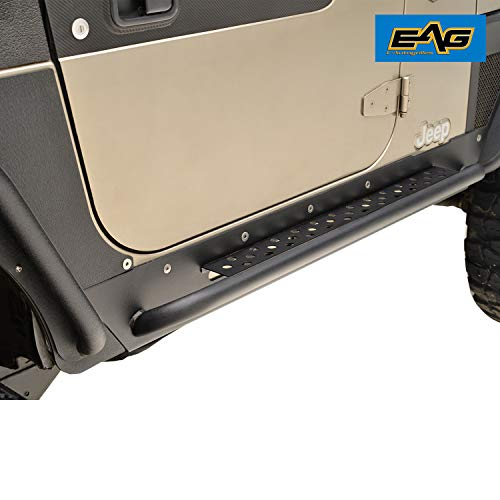 EAG Rock Guard with Step Off Road Fit for 97-06 Wrangler TJ