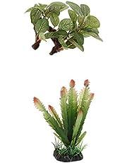 LOVIVER 2 Unidades Plantas Artificiales Paisajes de Terrarios de Reptiles