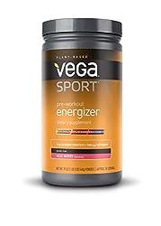 Vega Sport Pre-Workout Energizer Acai Berry (19oz, 30 Servings) - Vegan, Gluten Free, All Natural, P
