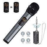 Elegiant Draadloze Microfoon | UHF frequentiebereik van 660 MHz-689 MHz | 10 kanalen | Batterijduur 10 - 12 uur