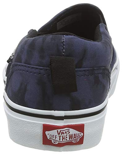 Vans Asher, Slip-on Sneaker Unisex-Bambini, Blu ((Tie Dye) Dress Blues/White WE2), 34 EU