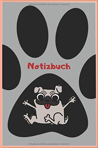 Notizbuch: Notizbuch Hundepfote / 120 Seiten / kariert / DIN A5 (6x9) / Hundemotiv #18