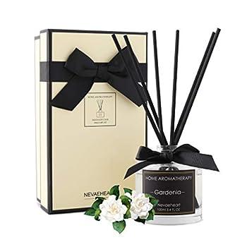 NEVAEHEART Reed Diffuser Gardenia Fragrance Diffuser 3.4 oz 100ml  Aromatherapy Diffuser Sticks Scented Oil Diffuser Sticks Reed Diffuser Set Home Fragrance with Gift Box