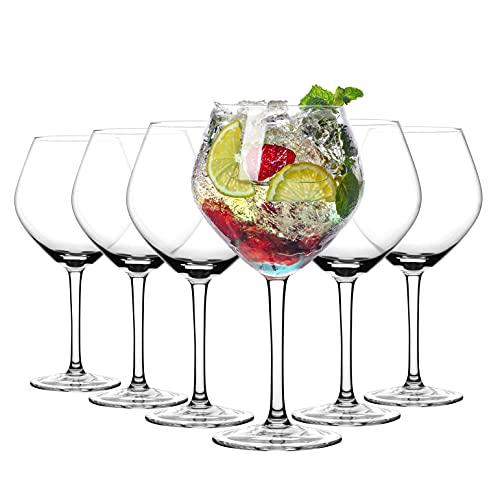 Amisglass Juego de 6 Copas de Ginebra, Copas de Vino de Cristal...