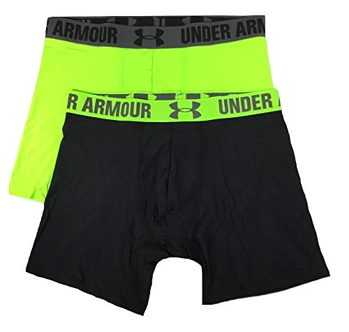 Under Armour Men's HeatGear 6'' Boxerjock 2 Pack (Small)