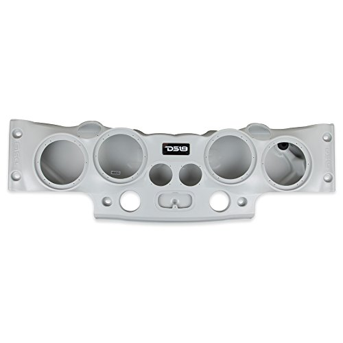 DS18 JK-SBAR/G Gray Jeep Wrangler Overhead Soundbar for JK & JKU 2007-2017 Will Accommodate 4 x 8-inch Speakers, 4 x 1.75-inch Tweeters, 2 x 1.31-inch Screw-on Drivers (Available in Multiple Colors)