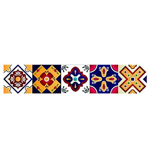 Pegatinas para azulejos de color, impermeables, autoadhesivas, para decoración de muebles de cocina, baño, 10 cm x 50 cm x 1 unidad