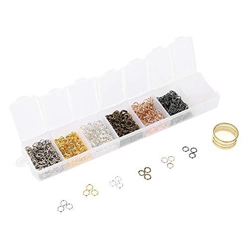Accesorios de joyería de acero mezclado, joyería FindingsJoyería Cierres abiertos, anillos DIY Hallazgos Set Kit[04]