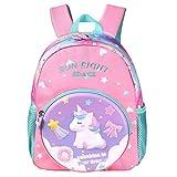 Wenlia Mochila para niños, mochila escolar de unicornio con bolsillos laterales, mochila ligera para niños y niñas, astronauta mochila de viaje impermeable, regalos para niños