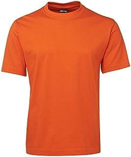 Men's Plain TShirt | Adults Casual Blank Tee Shirt | Size S-5XL - Orange (XXX-Large)