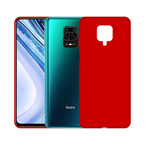 Case Creation Luxurious OG Series for Redmi Note 9 Case Cover,Anti-Dirty Slim Case Frosted Matte Cute Candy TPU Raised Bezel (Splash of Color) Back Cover for Xiaomi Redmi Note9 - Glamour Red