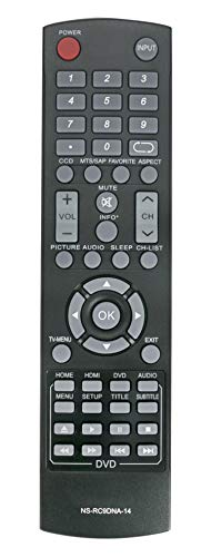 New Combo Remote NS-RC9DNA-14 fit for Insignia LED TV DVD NS-28DD310NA15 NS-32DD310NA15 NS-32DD220NA16 NS-32DD200NA14 NS-28DD220NA16 NS-24ED310NA15B NS-24DD220NA16 NS-20ED310NA15