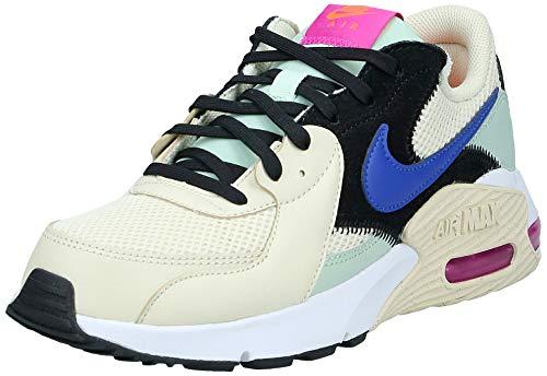 Nike Air MAX Exceed, Zapatillas para Mujer, Fossil Hyper Blue Pistachio FR-Bolsa de Deporte, Color Azul, 39 EU