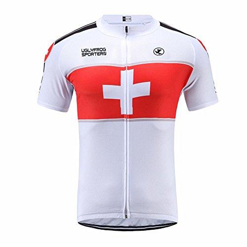 Uglyfrog Erwachsene Herren Radtrikot Trikot Bike-T Full Zip Sommer Top Cycling Jersey Fahrradshirts Fahrradbekleidung für Männer mit Elastische Atmungsaktive Schnell Trocknen Stoff