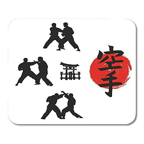 25X30CM Mauspads Grüne Judo-Hieroglyphe von Karate und Männern, die die Inschrift auf dem japanischen Zeichen-Mauspad demonstrieren