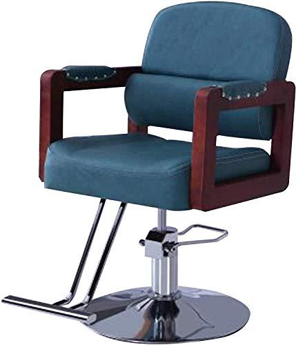 Sedia da barbiere, salone di bellezza, spa, attrezzatura per lo styling sedia da barbiere, sedia da salone resistente, sedia idraulica regolabile, blu (colore blu)