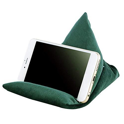FunYake Telefon Ständer Kissen Lazy People Handyhalter Weich Tragbar Telefon Kissen Sitzsack - Grün
