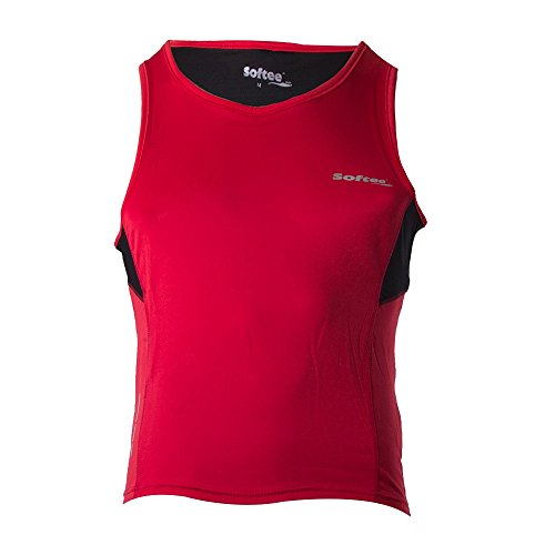 Softee T-Shirt pour Homme M Rouge/Noir